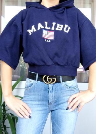 H&m divided s/36 malibu usa укороченая толстовка худи