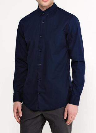 Ovs industry s/37/38 мужская рубашка в темно синем цвете