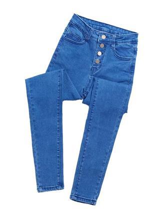 Shein s/36 джинсы, джеггинсы , на высокой посадке и болтах