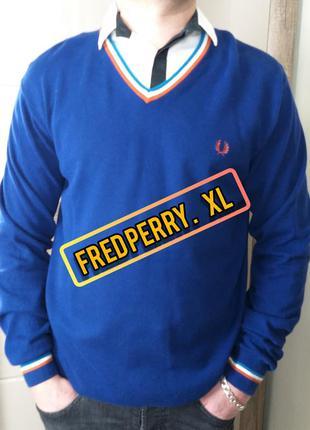 Fred perry xl/42 шикарный мужской джемпер/пуловер/кофта