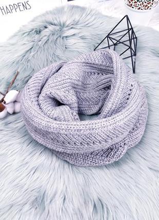 Серый шарф снуд/хомут