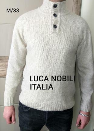 Luca nobili m/38 тёплый полушерстяной бежевый свитер /кофта до...