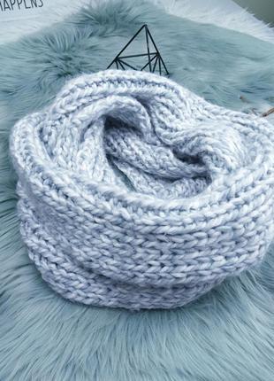 Объемный тёплый шарф/снуд/хомут