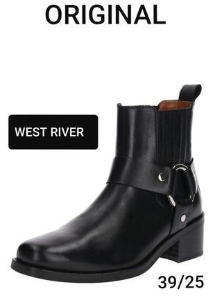 West river original 39/25 кожаные демисезонные ботинки казаки
