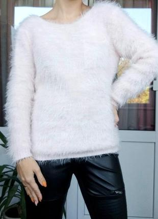 Italia s/m свитер кофта травка в нежно розовом цвете