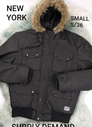Скидка❗supply&demand new york s/36 черная куртка, еврозима