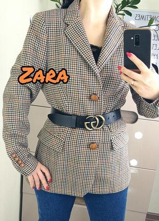 Zara woman marocco l/40 пиджак/жакет в гусиную лапку
