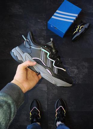 Adidas ozweego black шикарные мужские кроссовки адидас