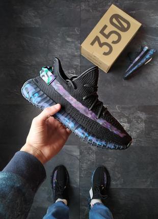 Adidas yeezy boost 350 шикарные мужские кроссовки адидас чёрные
