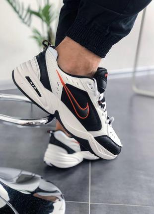 Nike air monarch iv black white шикарные женские кроссовки найк