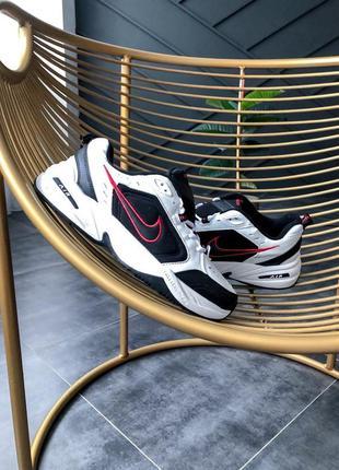 Nike air monarch iv black white шикарные мужские кроссовки найк