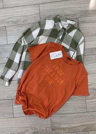 Женская хлопковая футболка с надписью новая