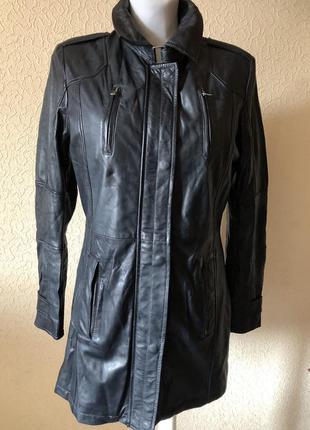 Кожаная куртка плащ пальто effetto d'italia ( италия)