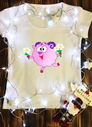 Женская футболка  с принтом - бараш