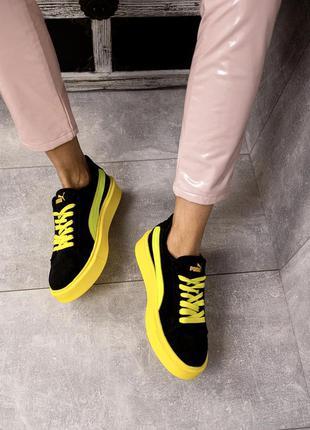 Женские кеды кроссовки замшевые