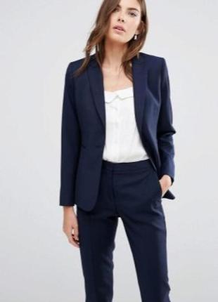 Красивый синий пиджак блейзер от h&m
