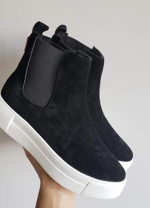❗ последний размер 36!!! ботинки кеды замшевые зимние  натурал...