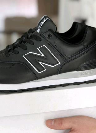 Мужские кроссовки New Balance 574 черные. Артикул 8983V.