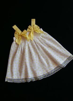 Нарядный фатиновый сарафан/платье gaialuna (италия) на 1-1,5 г...