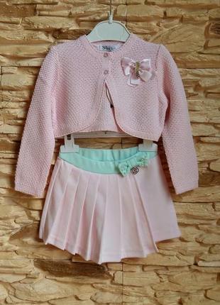 Комплект: болеро и шорты-юбка gaialuna (италия) на 1,5-2 годик...