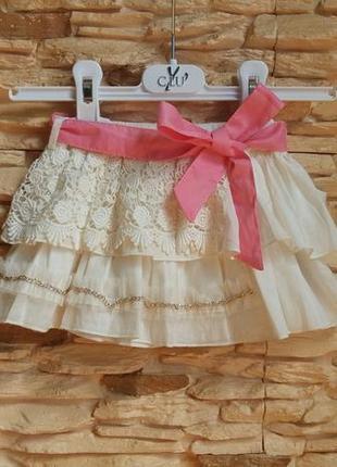 Нарядная юбка gaialuna (италия) на 6-9 месяцев (размер 70)
