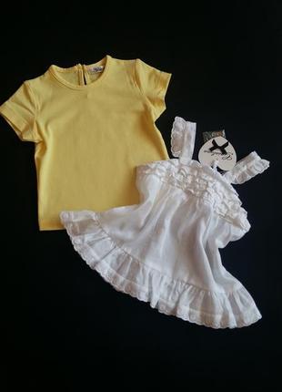 Комплект: футболка и туника/топ gaialuna (италия) на 6 месяцев...
