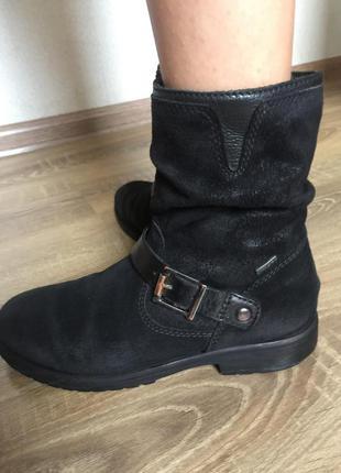 Замшеві демі ботинки