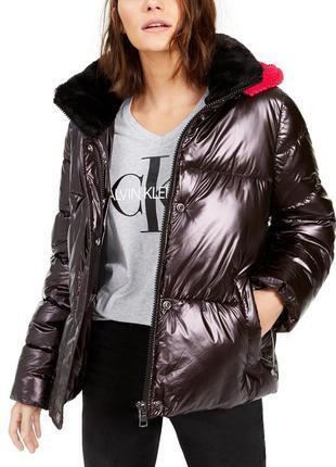Стильная куртка calvin klein, женский пуховик calvin klein