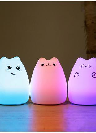 Светодиодный ночник в форме котика