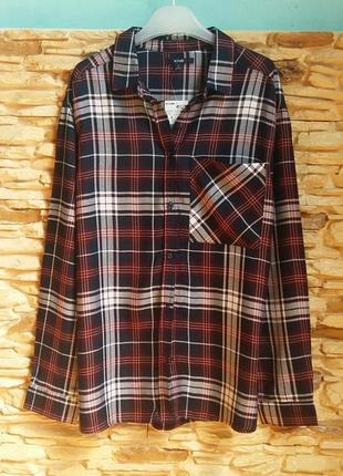 Клетчатая рубашка kiabi (франция) на 15-16 лет (размер 158-164)