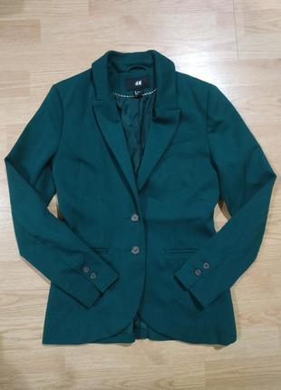 Фирменный h&m стильный базовый пиджак/жакет