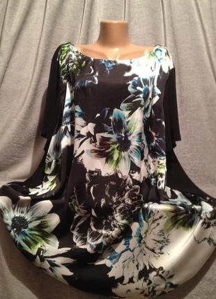 Красивая блуза с принтом супер большого размера.1146