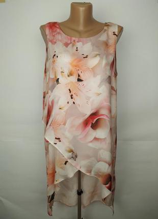 Нежное легкое красивое платье в цветы wallis uk 14/42/l