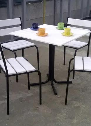 Комплект Стол+4стула для кафе сада дачи