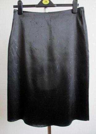 Атласная юбка в мелкий принт