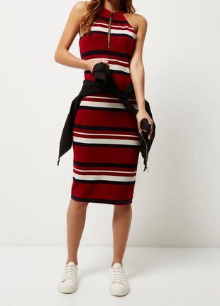 Стильное очень красивое платье в полоску в идеальном состоянии...