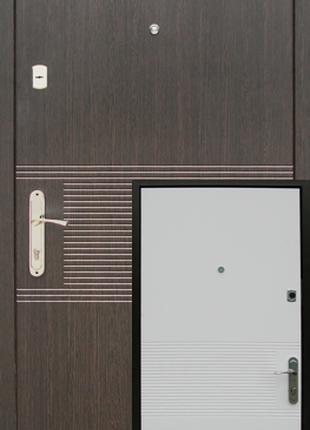 """Входная дверь """"Лайн"""" двухцветная. Металл 1,2 мм"""