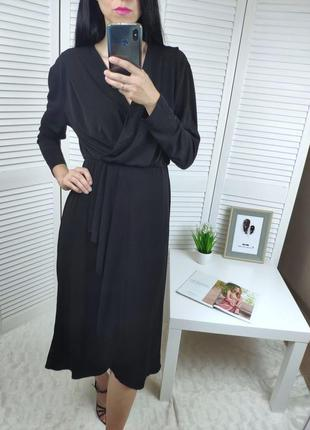 Платье миди на запах bershka, р-р m