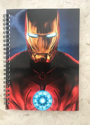 Блокнот с изображением Железного Человека