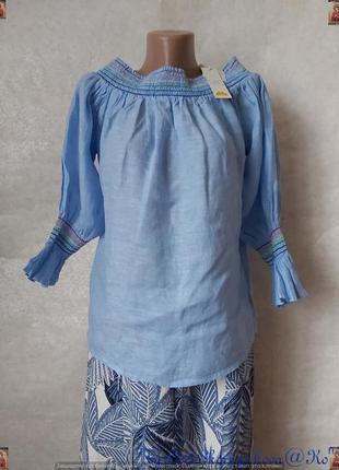 Новая с биркой блуза со 100 % льна в нежном голубом цвете со с...