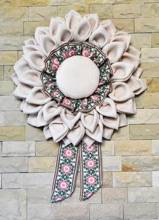 Декоративный венок на стену в стиле рустик, сельский стиль из ...