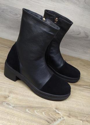 Кожаные ботинки демисезонные от производителя 39 и 40 размера