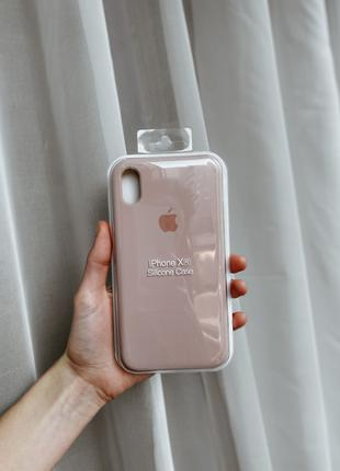 Silicon Case iPhone XR  WHITE & PINK SAND