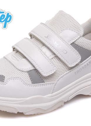 Модные кроссовки для девочки на липучке р.32-37 наложка