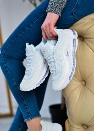 Nike air max 97 white   шикарные женские кроссовки найк белые