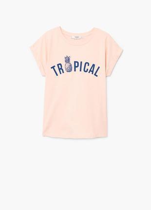 Классная футболка свободный фасон хс и с mango
