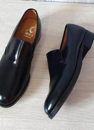 K shoes кожаные мужские туфли лоферы. англия.