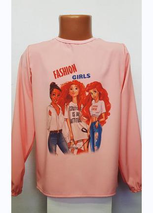 Блузки для девочки модные