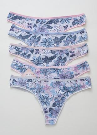 Набор стринги женские с цветами