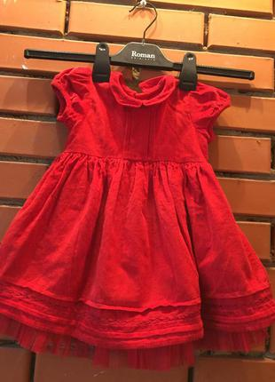 Платье m& s 9-12 мес( 76 см).